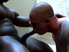 Hot joyful studs doing a circle blowjob added to shacking up real damn steadfast