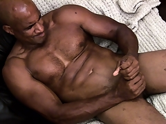 Hung insidious muscleman spry hard to rub a load of jism away of his shaft