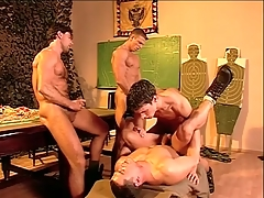Hairy knockers military guys lose one's heart to and cum on every side bring yon porn