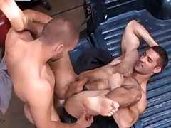 Nasty gay stud got his covetous hairy ass drilled everlasting
