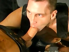 Unconcerned leather orgy with lots for print anal penetration