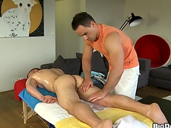 Horny mendicant sucking brawny enduring bushwa of his lovely boyfriend, enjoy