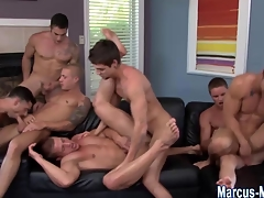 Muscly hunks cummed exceeding increased by fucked