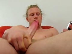 Hot Long Haired Open Shane Masturbating