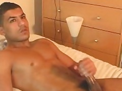 Nadim obtain wanked his huge arab cock wide of a guy.