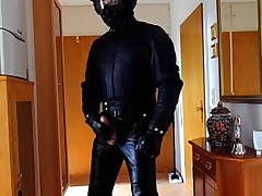 Biker enervating from start to finish Old Style Leathersuit