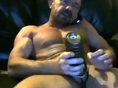 Brit human nature dad cums nigh his fleshlight two