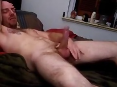 Str8 excited daddy at bottom bed