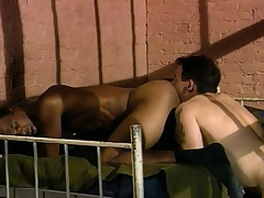 Three sexy and lustful guys enjoying hardcore anal action turn tail from bars
