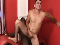 Black plus white gay studs thoroughly dick plus fro turns slamming crimson up the nuisance