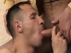 Hot gay amateur enjoys bareback sex and gets a mouthful of hot semen